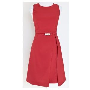 WHBM Sleeveless Belted A-Line Dress NWT 00